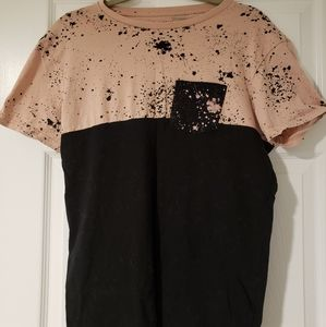 black and pink paint style tshirt
